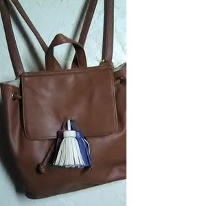 Madden Girl Brown Leather Small Back Pack